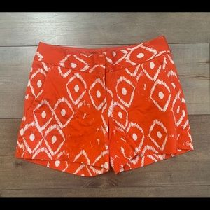 The Limited Red Orange Ikat Drew Fit Shorts